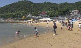 リニューアルした須磨海岸お披露目1